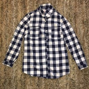 Old Navy Plaid Long Sleeved Shirt Size S